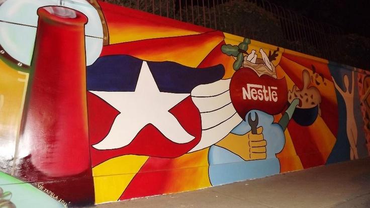 Mural Calle Salvador Gutiérrez, Nestlé, #Graneros.