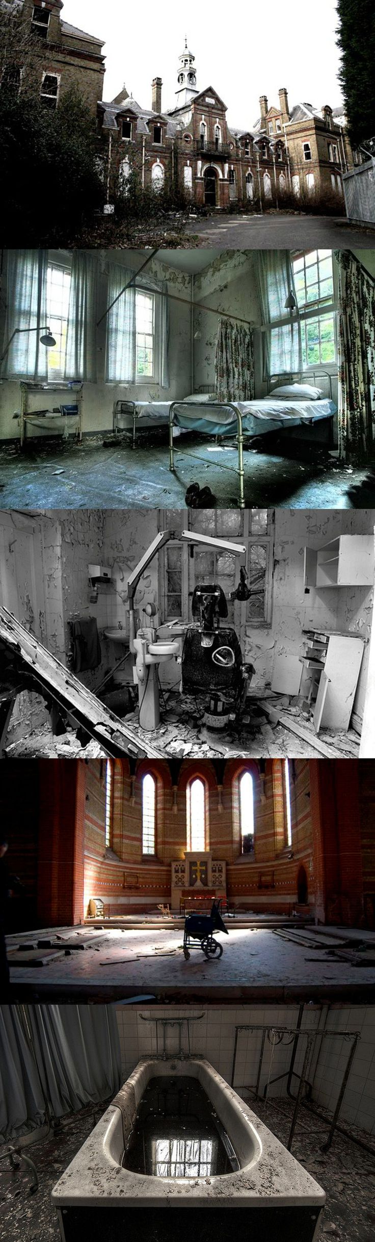 Cane Hill was an insane asylum in Croydon London in use until 1991