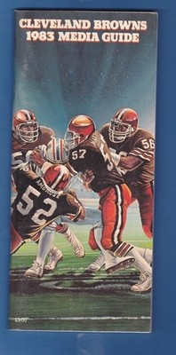 1983 Cleveland Browns Media Guide with Bill Cowher Linebacker | eBay