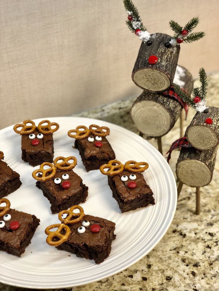 Easy Christmas Reindeer Brownies | Dessert recipes ...