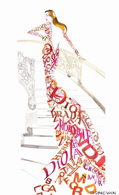 Calligraphic dress