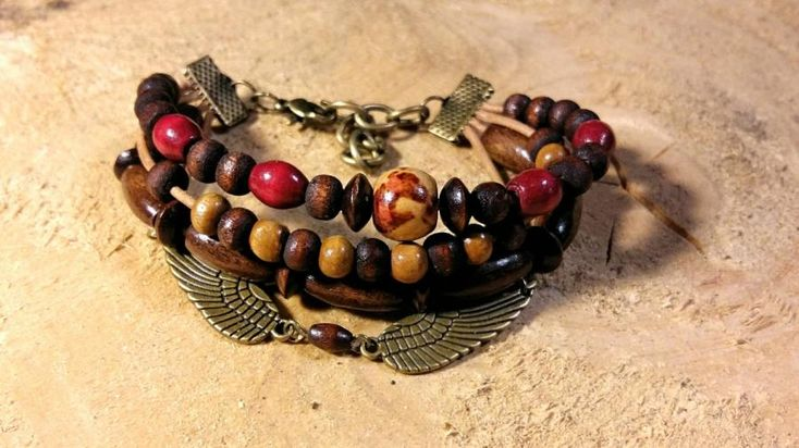 Wood Bead Connector Bracelet by It's A Wrap - Bracelets & More