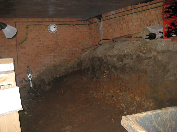 Stage 1 - We used a narrow wheelbarrow to take the dirt and rock from the cellar through the house to the garden