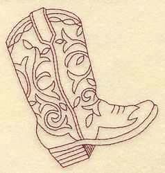 Free Cowboy boot hand Embroidery Design | Machine Embroidery Downloads: Designs & Digitizing Services from ...