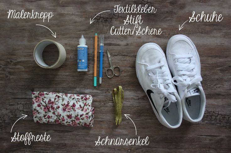 Eine Anteilung, wie ihr aus euren alten Tretern ganz individuelle Schmuckstücke zaubert. So einfach könnt ihr eure Schuhe personalisieren.