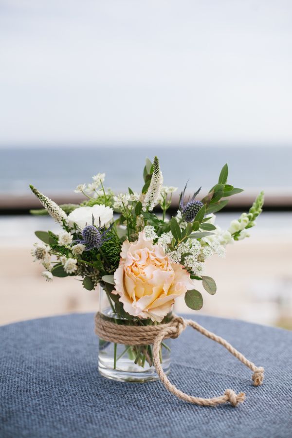 Rose and thistle wedding flowers: Photography: Levi Stolove - http://levistolovephotography.com/