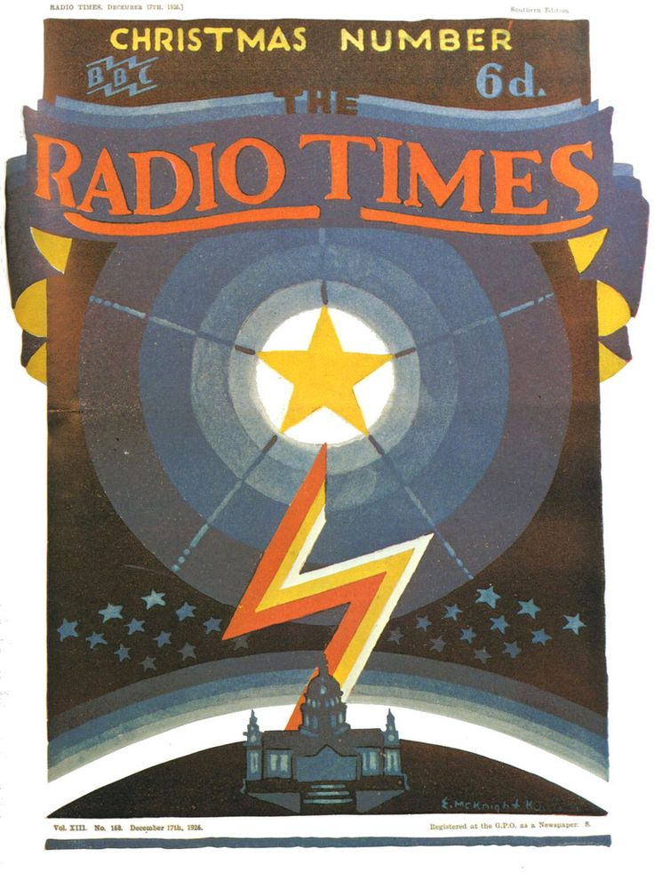 Vintage Magazine Cover - Radio Times (British) Christmas Number - 17 December 1926