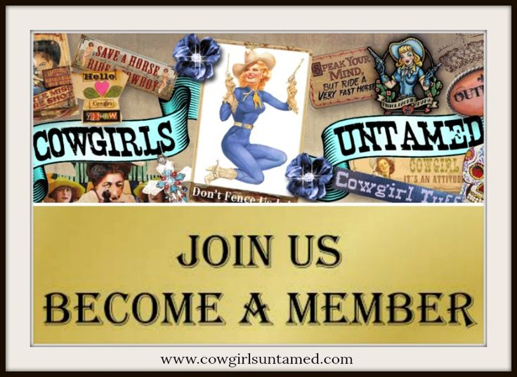 MEMBERSHIP at COWGIRLS UNTAMED! Only $20 for USA customers! 20% Off orders of $45 or more, FREE SWAG periodically, Special Members Only Facebook Sales at the end of each month.   #membership #freemerchandise #sales #discounts #member #benefits #boutique #clothing #belts #cowgirlboots #bohemian #cowgirl #boho #gypsy #biker #Facebook