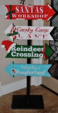 Christmas Arrow Signs.Arrow Signs On Pinterest Christmas Christmas Decorations