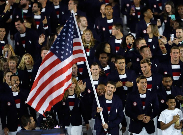 So cool! I also love what Team USA was wearing. So preppy and all american.