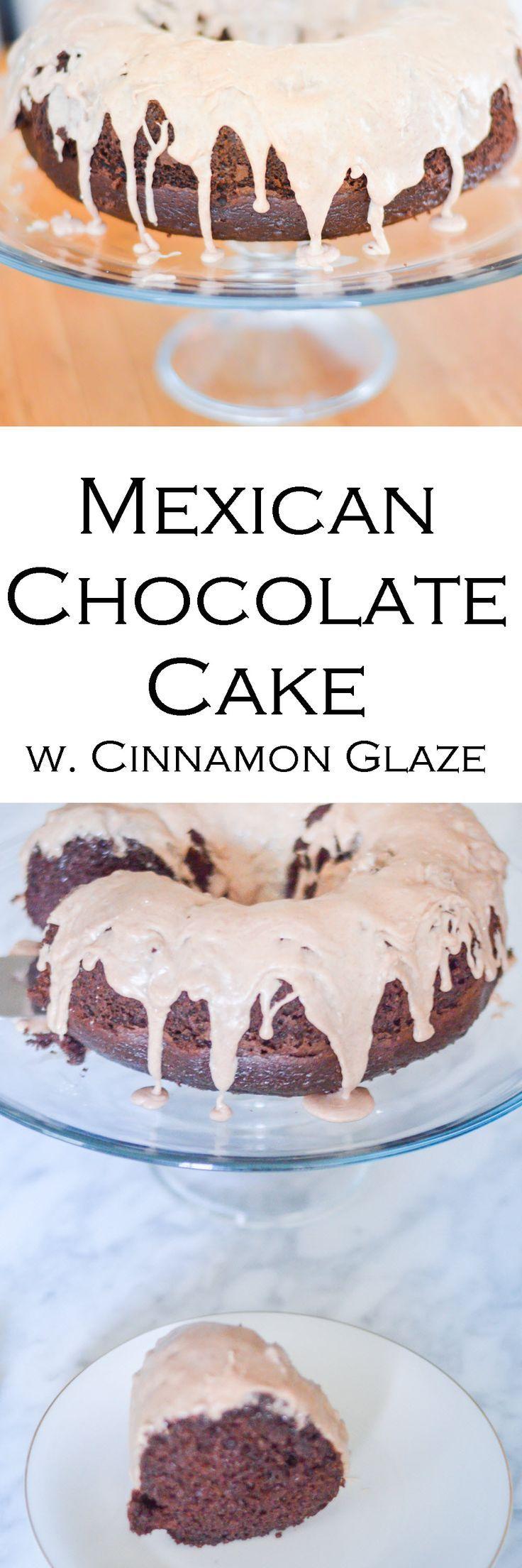 Mexican Chocolate Cake + Cinnamon Glaze