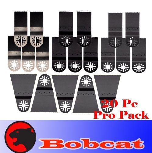 20 Pcs Pro Pack Combo Japan Tooth BIM Standard Cut Oscillating Multi Tool Saw Blade for Fein Multimaster Bosch Multi-x Craftsman Nextec Dremel Multi-max Ridgid Dremel Chicago Proformax Blades