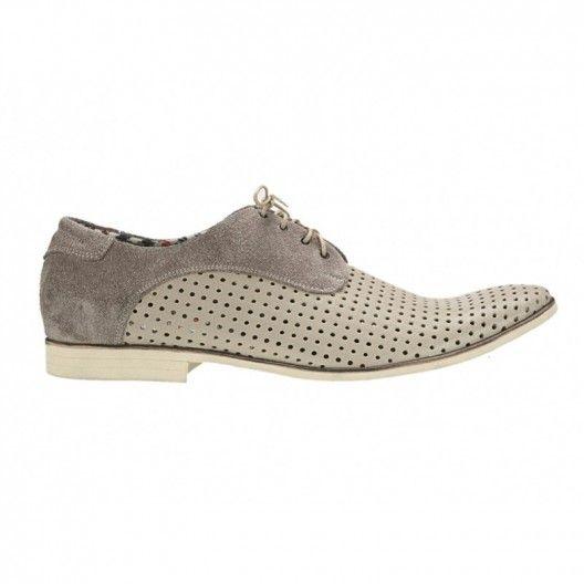 Pánske kožené topánky bežové - fashionday.eu