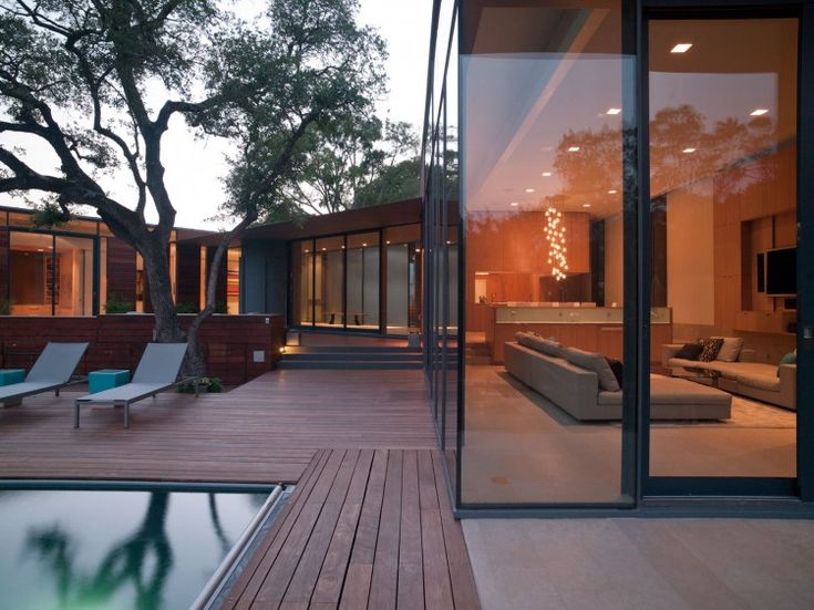 ModernChen Studios, Creek House, Pools Decks, Austin Texas, Modern Architecture, Dreams House, Cascading Creek, Bercy Chen, Modern Home
