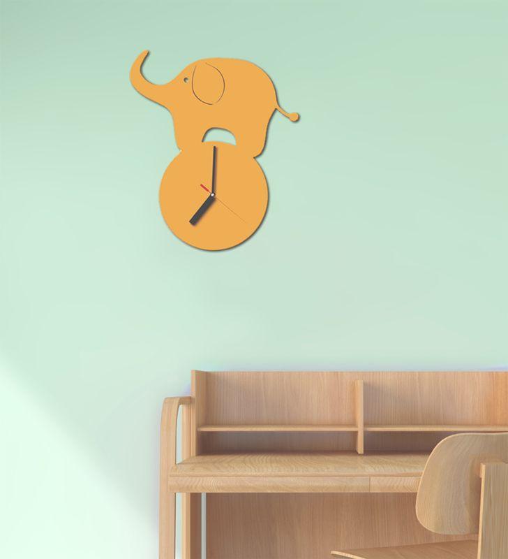 Sweet Elephant  #clock #bedroom #kids #metal #lamidea
