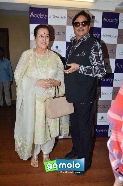 Poonam Sinha & Shatrughan Sinha at the Launch of 'Society' magazine in Mumbai