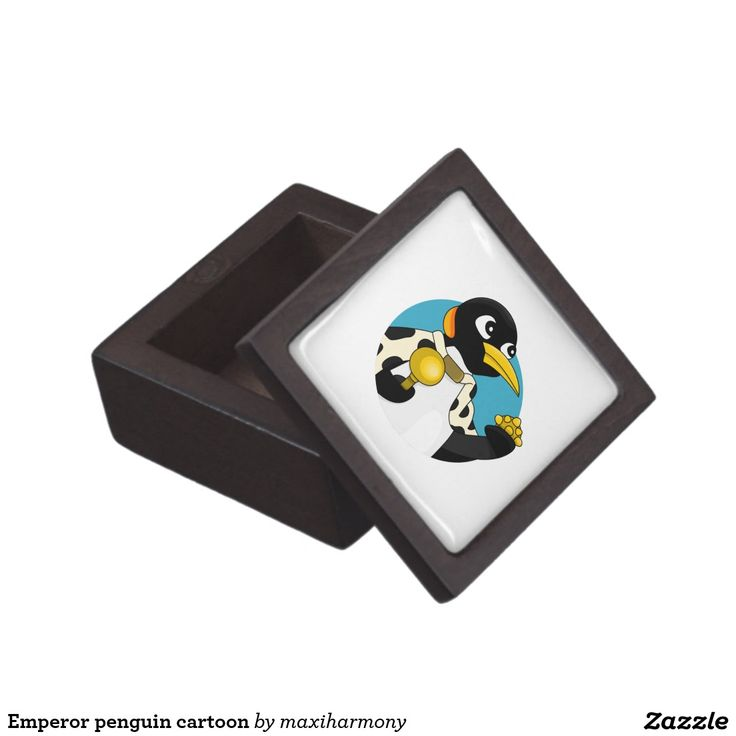 Emperor penguin cartoon premium trinket box