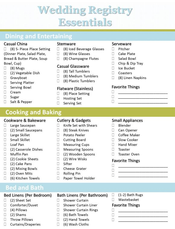 7 best Registry images on Pinterest Wedding registry checklist - bridal shower checklist