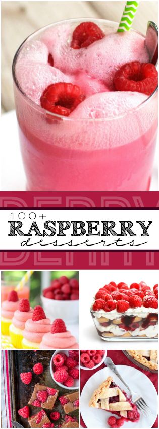100+ Raspberry Desserts http://www.somethingswanky.com/100-raspberry-desserts/?utm_campaign=coschedule&utm_source=pinterest&utm_medium=Something%20Swanky&utm_content=100%2B%20Raspberry%20Desserts