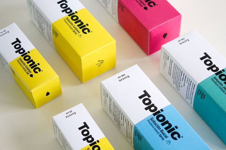 Topionic - While most traditional medicines boast a less than exciting brand identity, the Esteve Topionic uses bright colors and block typography to create a...