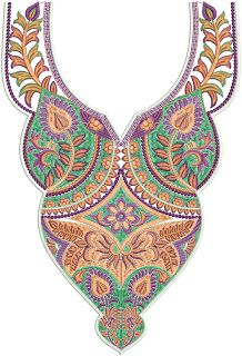 Latest A-Z Neck Embroidery Designs - Embdesigntube