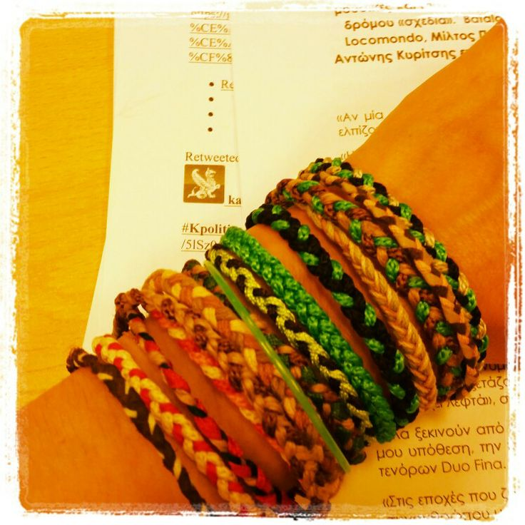 #bracelets #colorful #summertime #happy #girly #greek #handmade #alternative #artepovera