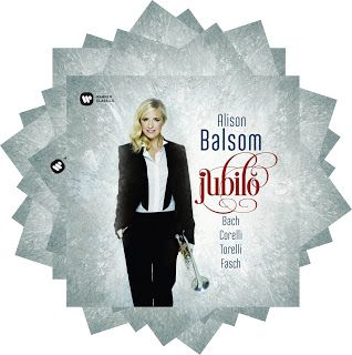 Alison Balsom  Jubilo Bach, Torelli, Corelli, Fasch  with Stephen Cleobury & Tom Etheridge, organ  The Choir of King's College, Cambridge Academy of Ancient Music dir. Pavlo Beznosiuk  Warner Classics, 2016
