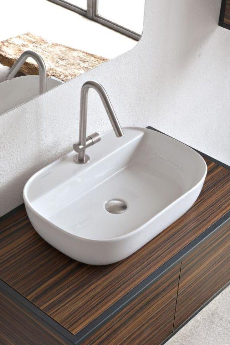 Scarabeo Glam Luftig Leicht Und Wie Gerade Dort Abgestellt Wirkt Das Scarabeo Glam Aufsatzwaschbecken Auf Aufsatzwaschbecken Waschbecken Waschbecken Armaturen