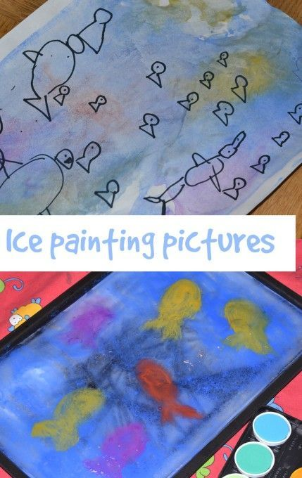 Ice painting – ocean themed