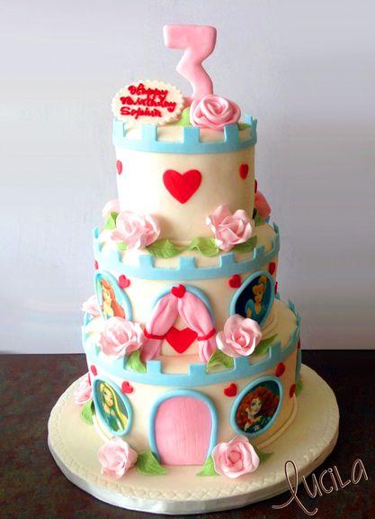 Princess cake for a three year old princess