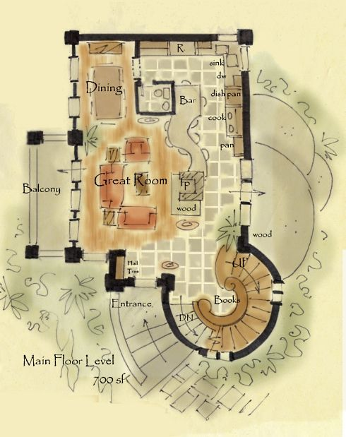 Castle House Plans With Turrets: House Plans With Circular Staircase
