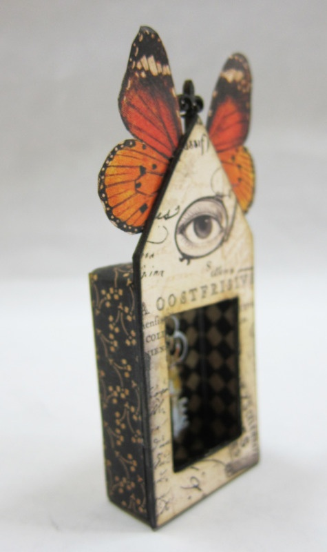 Gorgeous crafted matchbox by cackle on craftster