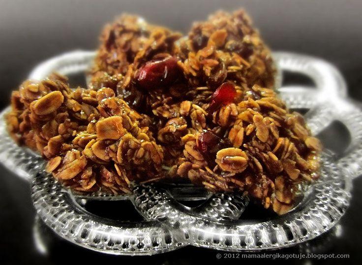 ciasteczka owsiane karobowe