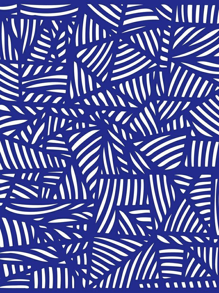 motif tendance bleu électrique