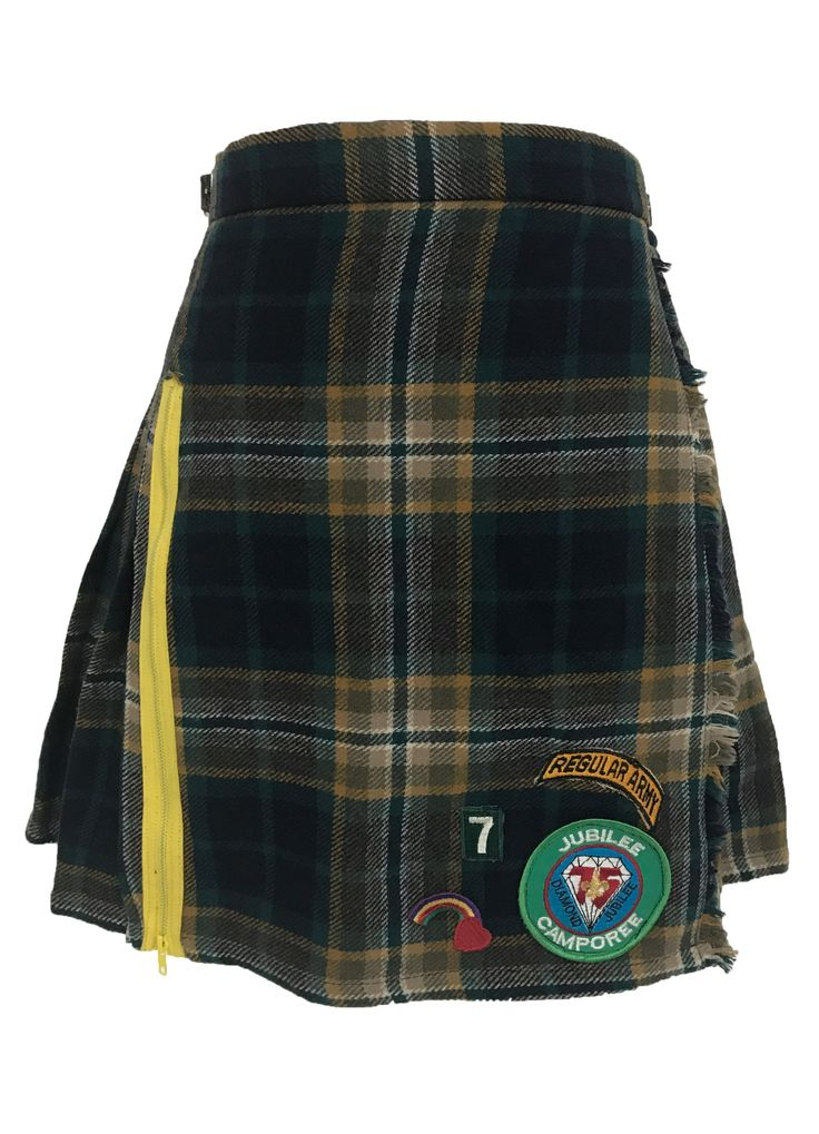 Handmade Bad Girl Scout Plaid Skirt Size Small