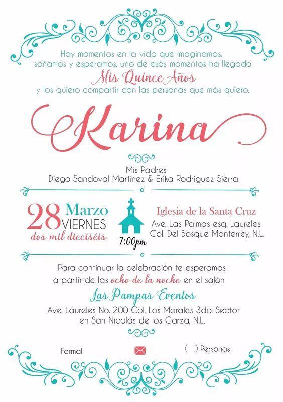 Invitaciones De 15 Años Invitaciones De Quince Años