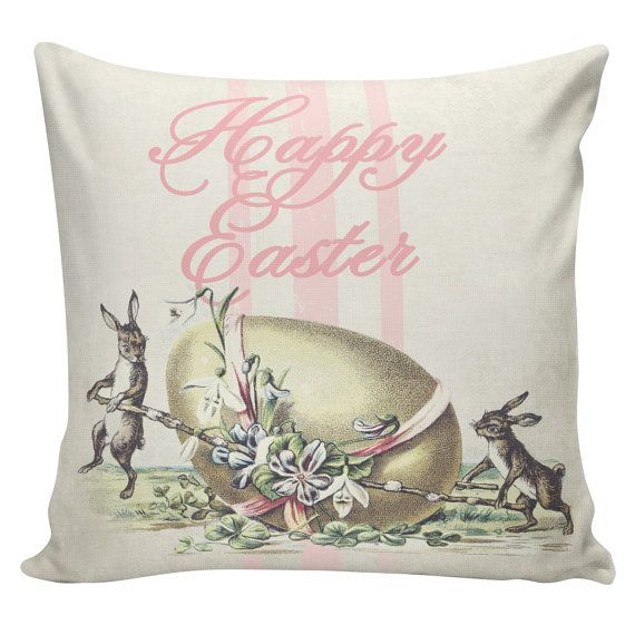 Decorative Pillows For Easter : 16 best Easter Pillows images on Pinterest Pillowcases, Burlap pillows and Easter pillows