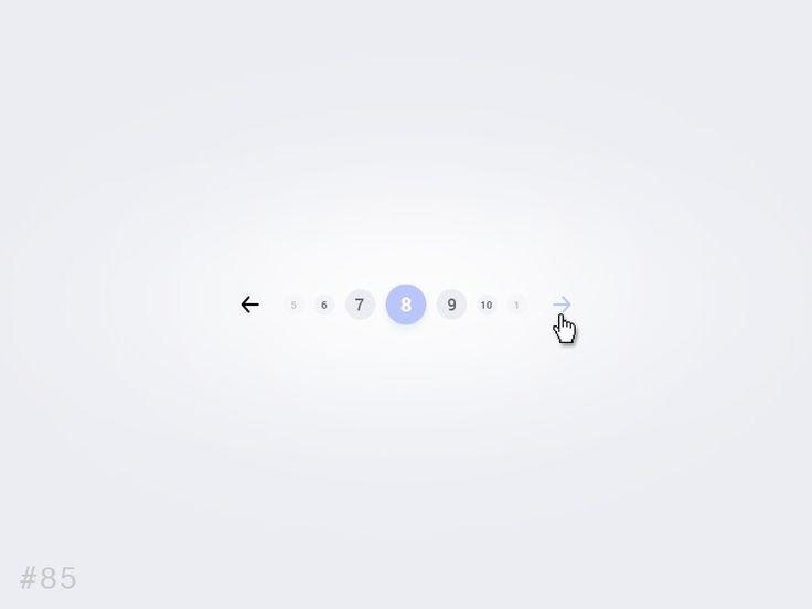 DailyUI design - Pagination