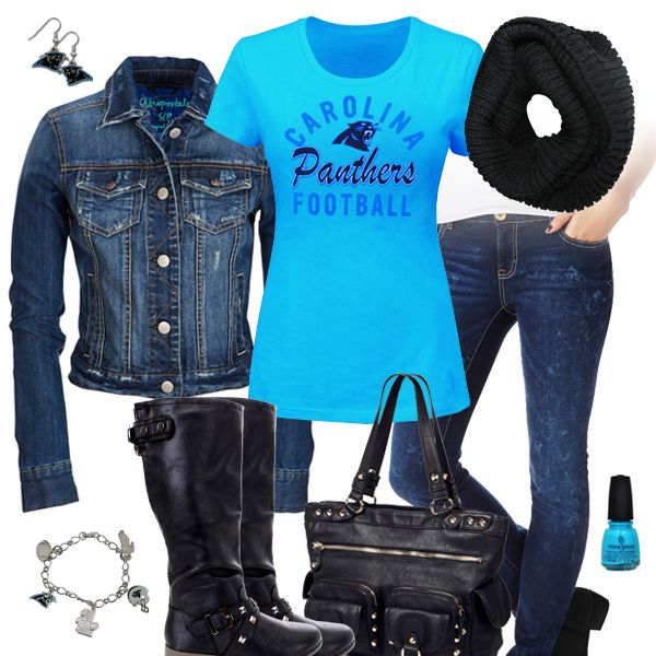 Carolina Panthers Jean Jacket Outfit