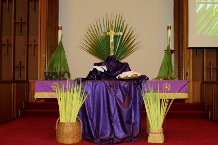 altar decoration with cloth 142 best images about palm sunday on altar 10339