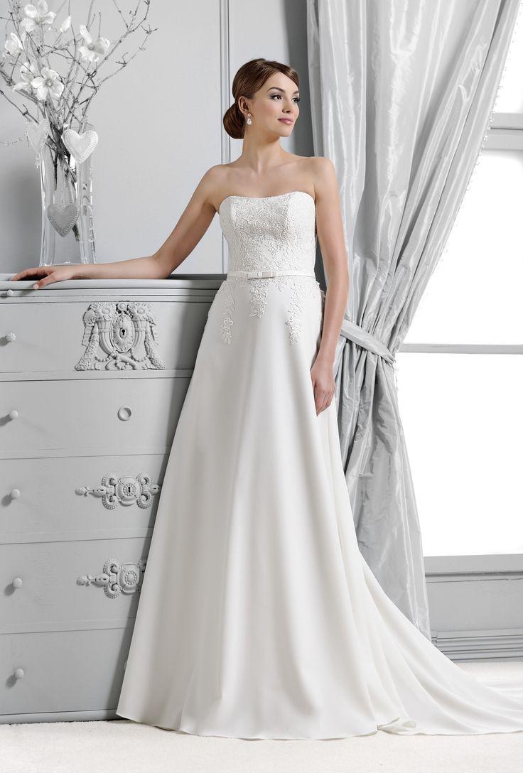 svatební šaty splývavý styl krajka  Agnes 14133