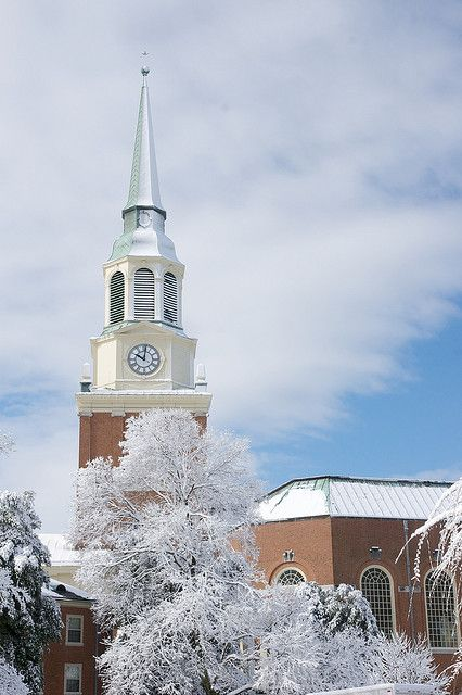 Snow at Wake Forest University