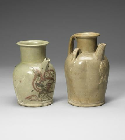 Two Changsha ewers, Tang Dynasty