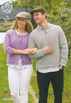 Cardigan and Sweater in King Cole DK (4370) – Deramores