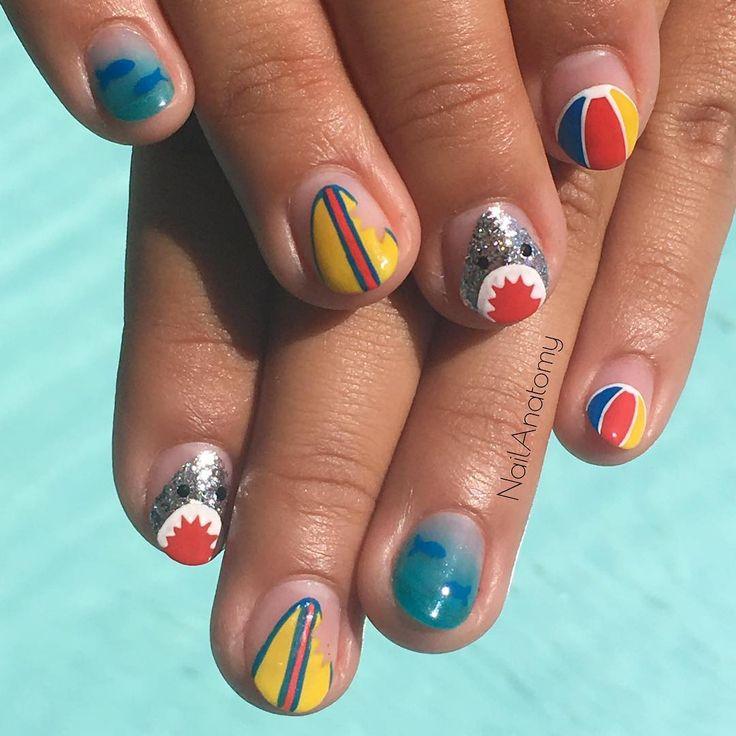Shark attack!!!! ..... Come find me @nail_swag. Link in bio ✌ Killer Croc nails for @kidgrandma .... Come find me @nail_swag ✌️️#nails#gel#gelnails#manicure#pinupgirl#girl#cutegirls#hair#makeup#lipstick#handpainted#nailsdid#nailsdone#nailstoinspire#fashion#naildesign#downtowm#losangeles#LA#nailswag#shark#sharks#fish#ocean#beach#beachball#surf#surfboard#summer