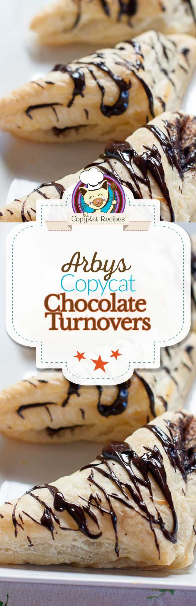 Arby's makes amazing chocolate turnovers, and you can too.  This copycat recipe will have you preparing chocolate turnovers just like a famous pastry chef.