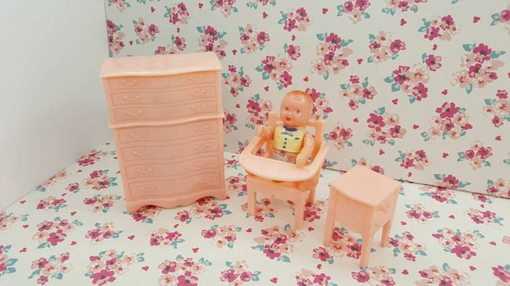 Renwal Baby Potty Chair Night table and Chiffarobe Pink Baby Nursery Doll House Toy Plastic Pee Potty Training Chair Furniture