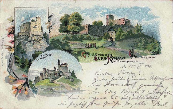 Zamek Chojnik (Kynast (Kinast (1364), Chynast zamiennie z nazwą Neuhaus (1393), Kynast (1403), Chojnasty (po 1945)), Jelenia Góra - 1904 rok, stare zdjęcia