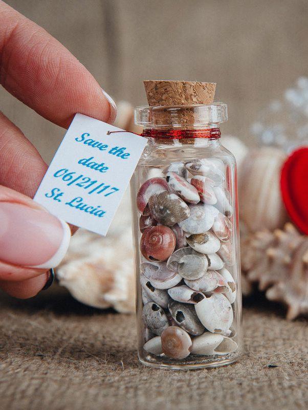 Save The Date Blue Red Wedding Favors Beach Wedding Gift Beach