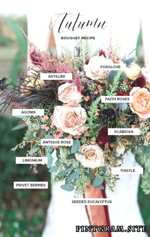 Herbststrauß Rezept Braut Inspiration (100 Layer Cake)   – wedding beauty